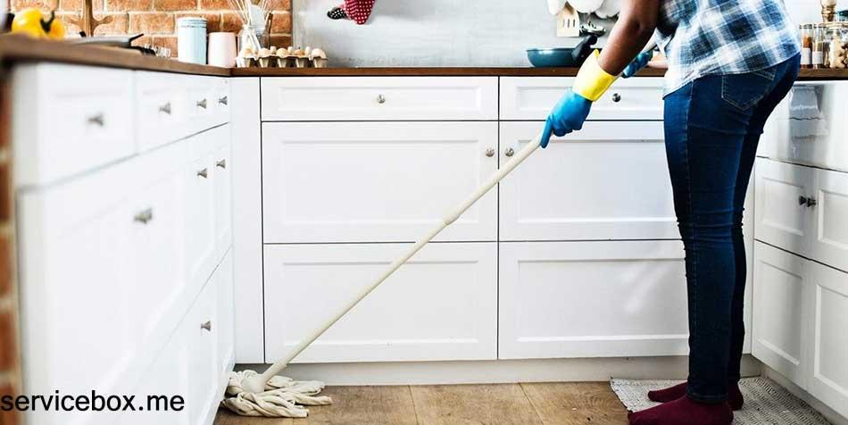 خدمات نظافت منزل توسط نیروی خانم